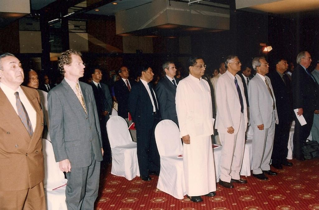 A section of the members of the Group while the National Anthem was being played