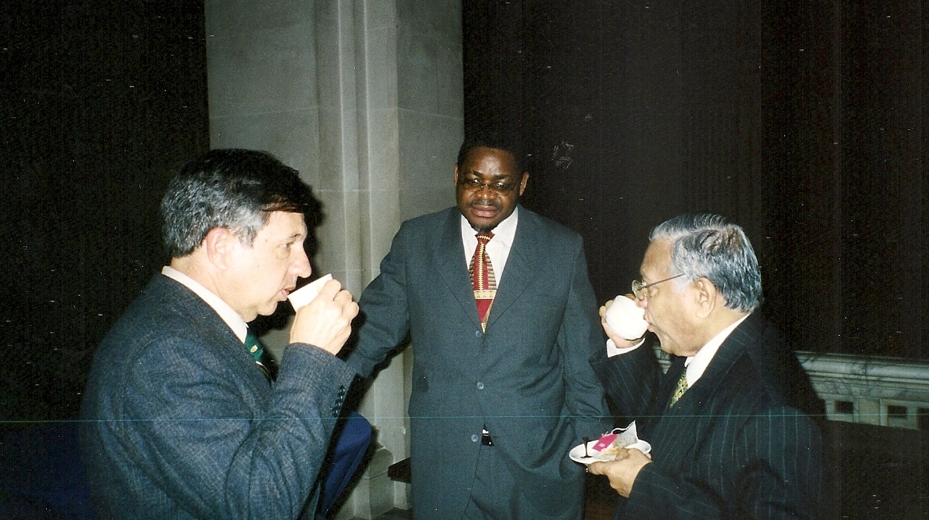 from left: Justice Vladimir de Freitas, Chief Justice Mangaze and Judge Weeramantry