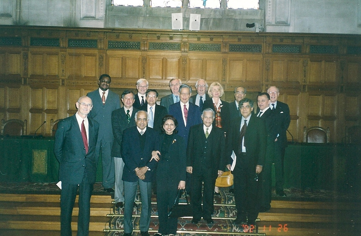 A group photograph in the Chamber of the International Court of Justice