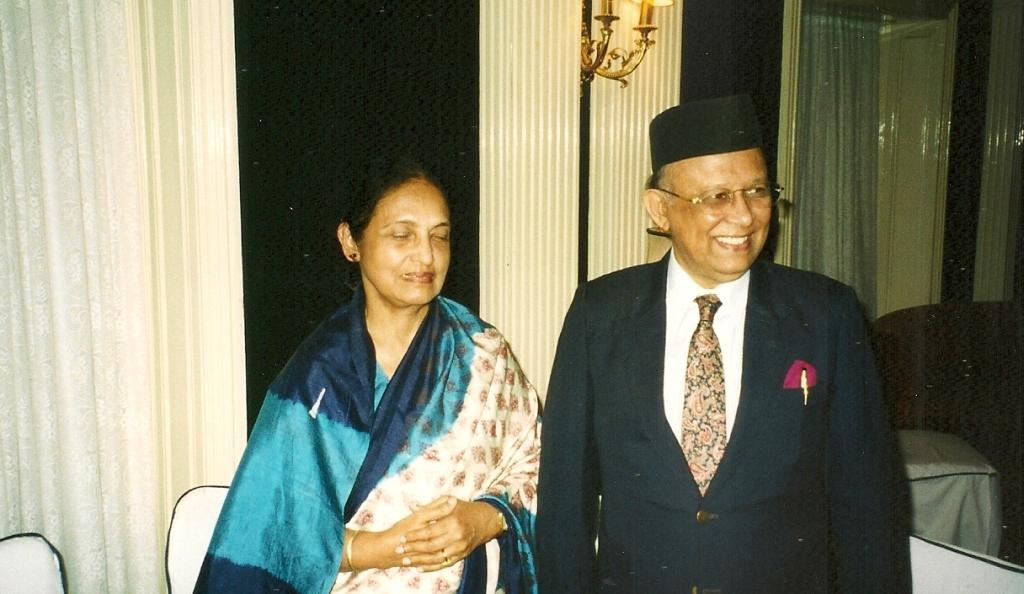 Justice (later Chief Justice) Mainur Reza Chawdhury of Bangladesh and Mrs Chawdhury