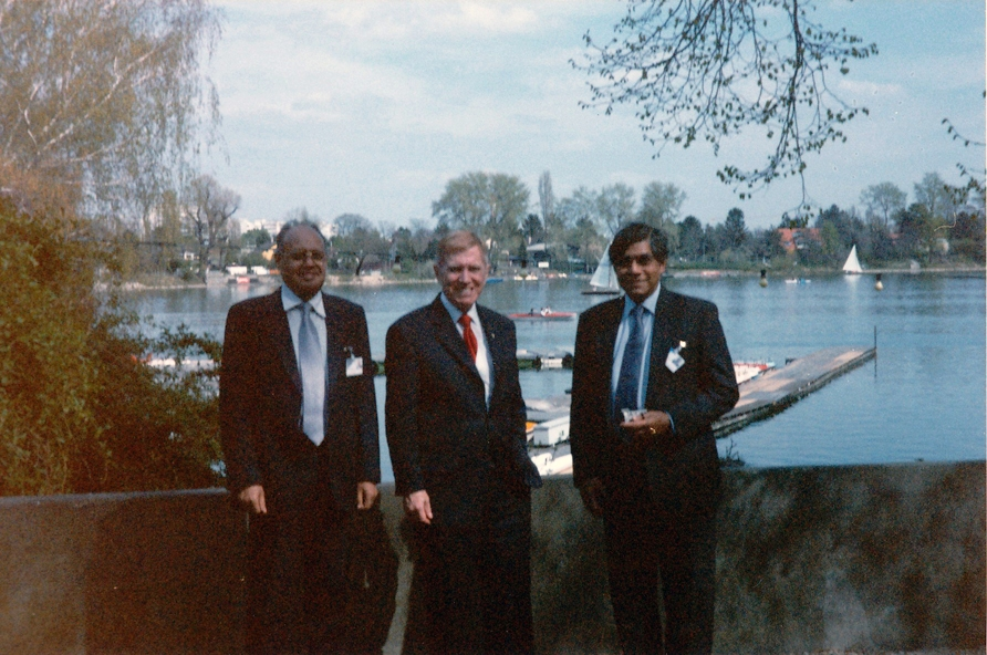 From left: Chief Justice Bhaskar Rao, Justice Michael Kirby and Dr Nihal Jayawickrama