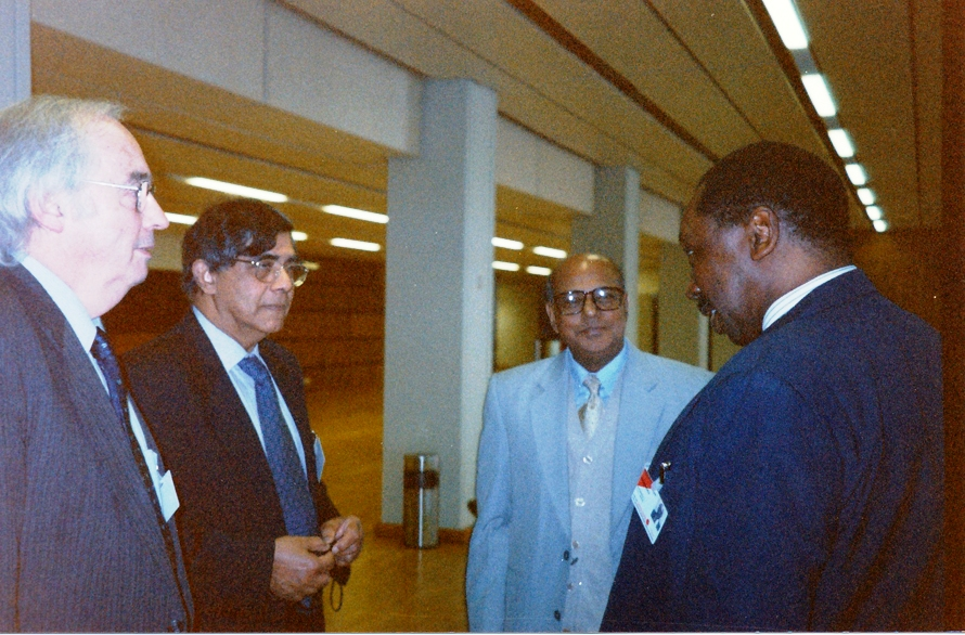 From left: Jeremy Pope, Dr Nihal Jayawickrama, Chief Justice Latifur Rahman, Chief Justice Uwais