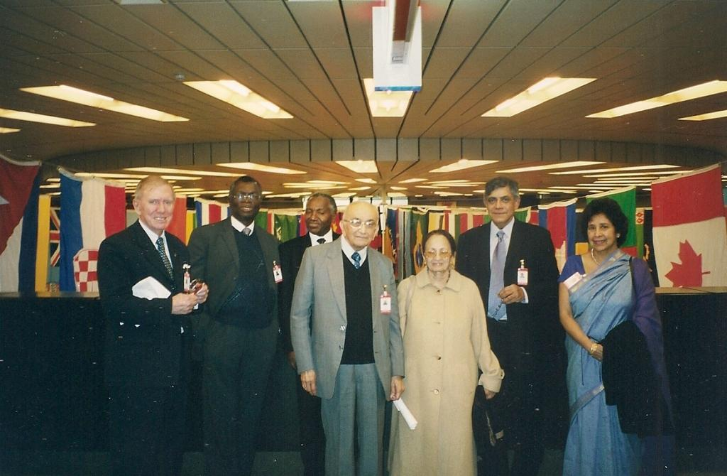 From left: Justice Michael Kirby, Chief Justice Pius Langa, Justice John A. Mroso, Justice P.N. Bhagwati and Dr Nihal Jayawickrama