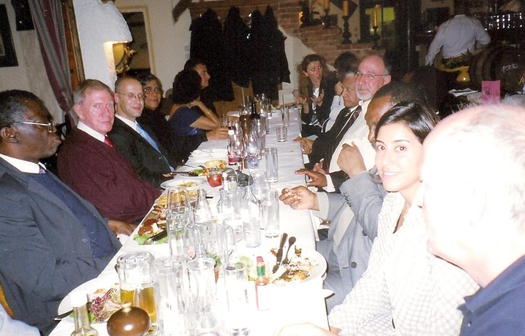 Pictures taken at a dinner hosted by UNODC: