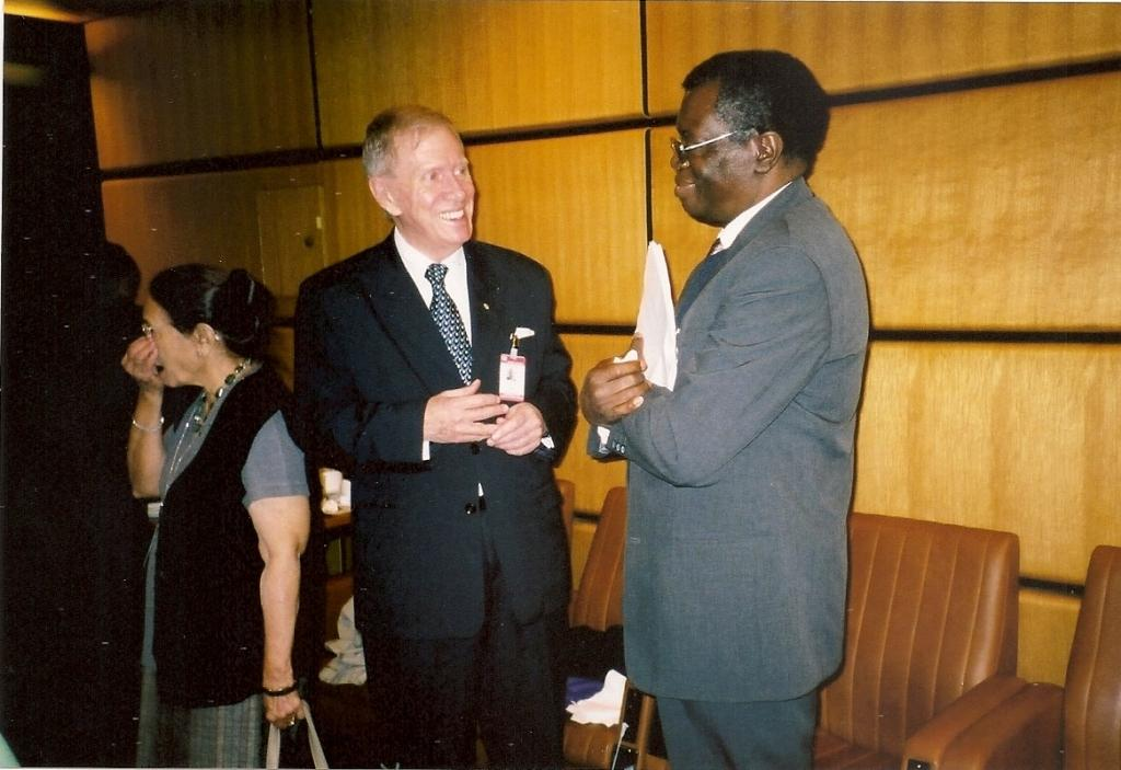From left: Justice Michael Kirby and Chief Justice Pius Langa