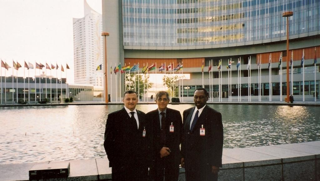 From left: Deputy Chief Justice Adel Omar Sherif, Dr Nihal Jayawickrama, and Chief Justice Uwais